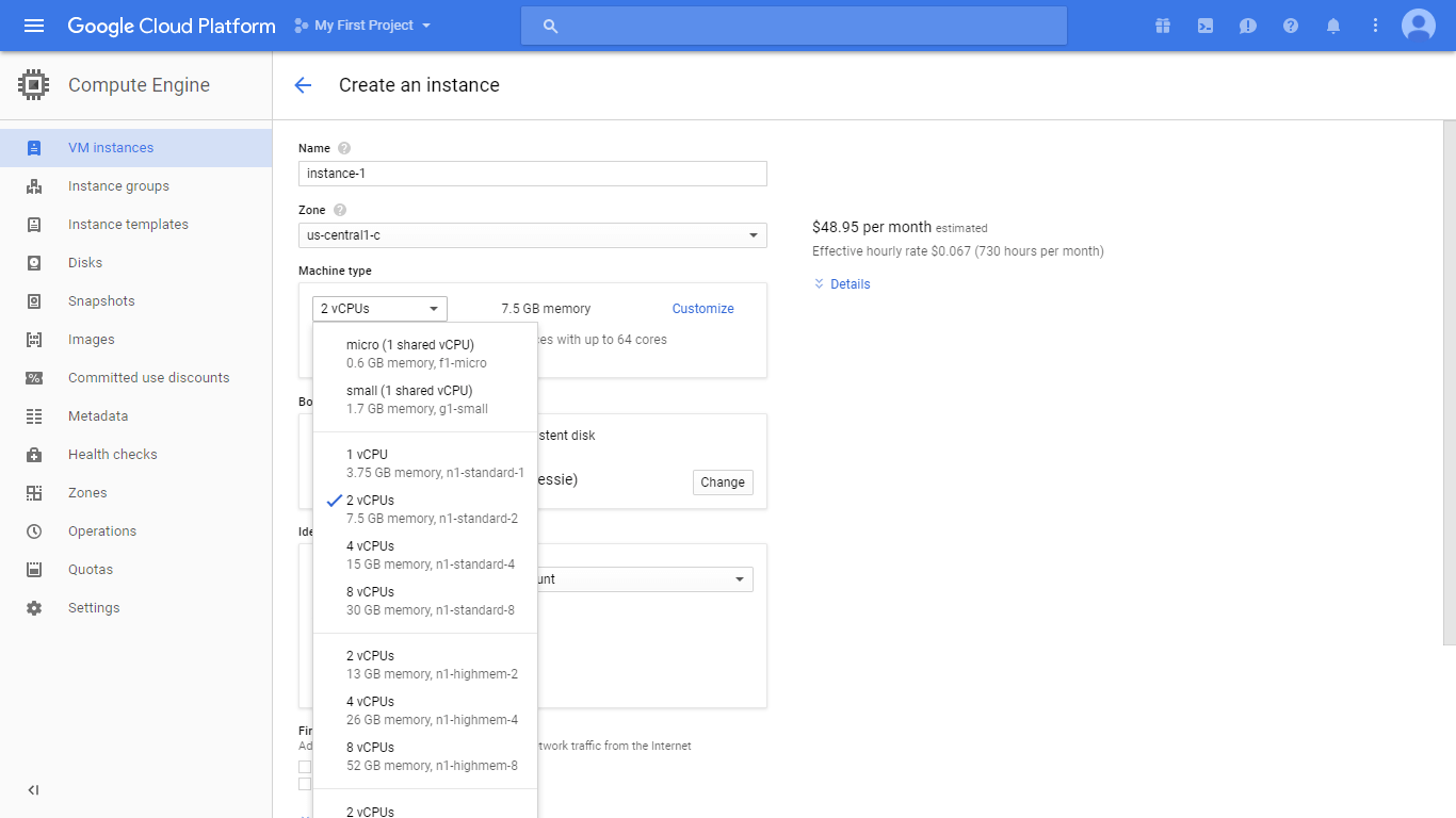 Google Cloud RDP