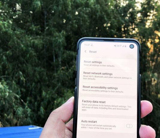 Reset Smartphone