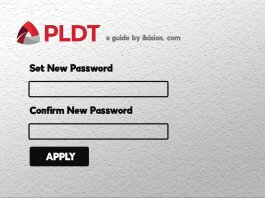 Change PLDT WiFi Password